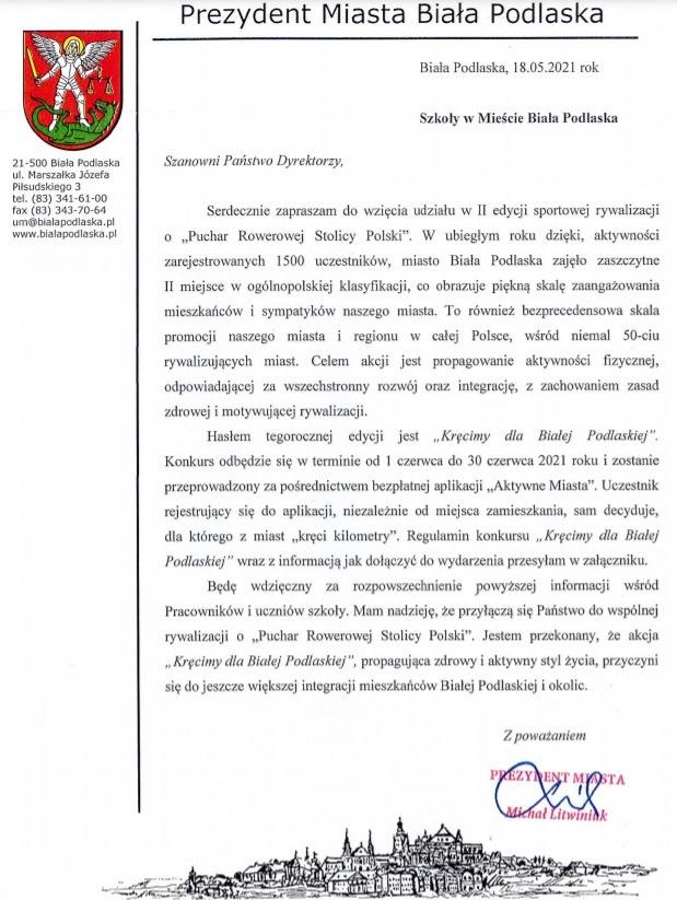 List Prezydenta Miasta BP